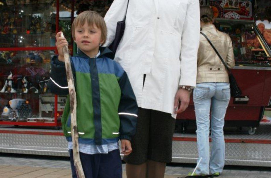 Anglų kalbos mokytoja Jurga su sūnumi Pijumi iš Kauno.