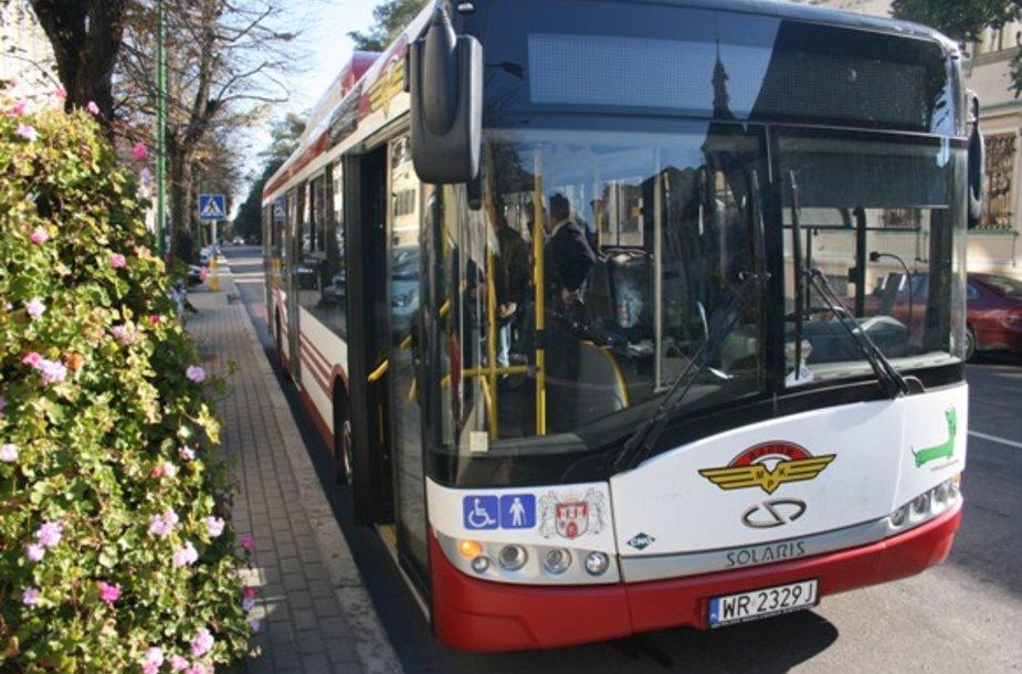 Klaipėdoje išbandytas lenkų ekologiškas autobusas.