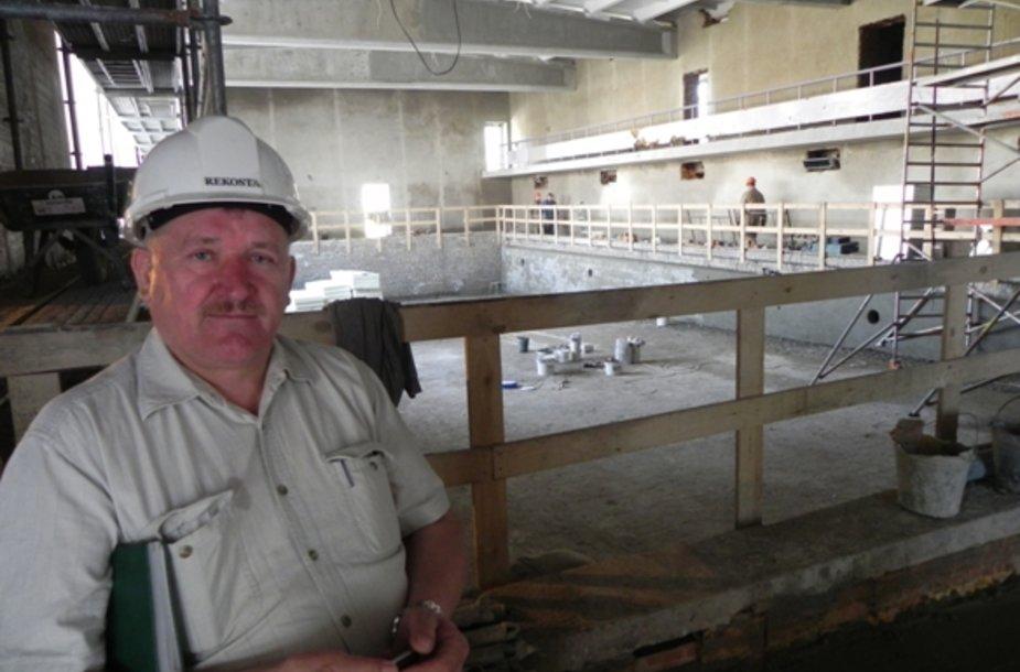 """Anot J.Darkinto, """"Gintaro"""" baseino rekonstrukcija bus užbaigta rugpjūtį."""