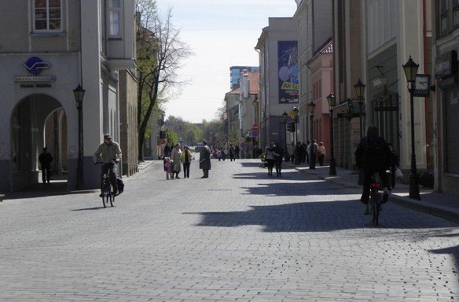 Miesto valdžia svarsto galimybę, kad Tiltų gatvė būtų atvira ne tik pėstiesiems.