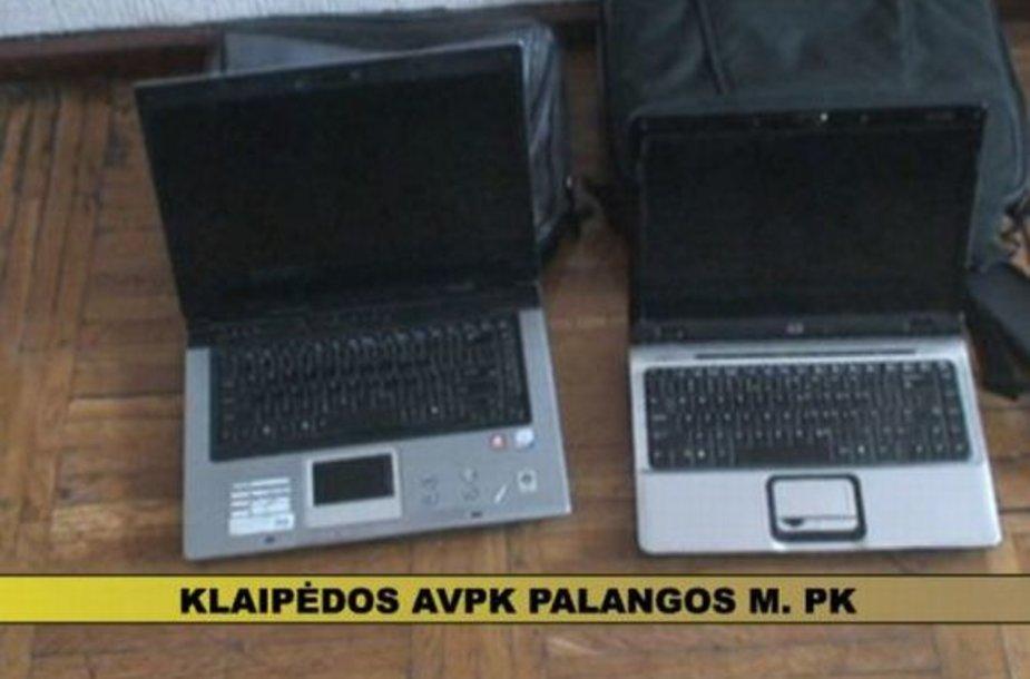 Vienas iš vagių grobių yra kompiuteriai.