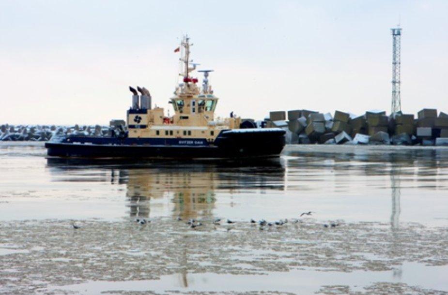 """Vilkikas """"GAIA"""" išplaukė į Daniją."""