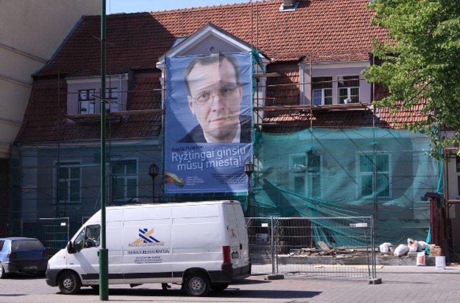 Naglis Puteikis rinkimų kampanijoje startavo pirmas.