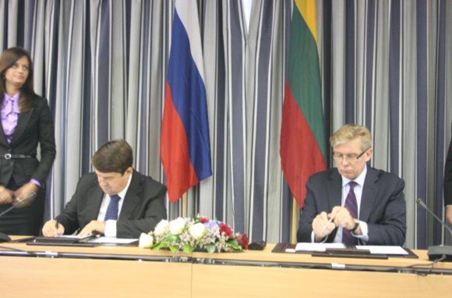 Igoris Levitinas ir Audronis Ažubalis Klaipėdoje aptarė svarbiausius klausimus tarp abiejų šalių.