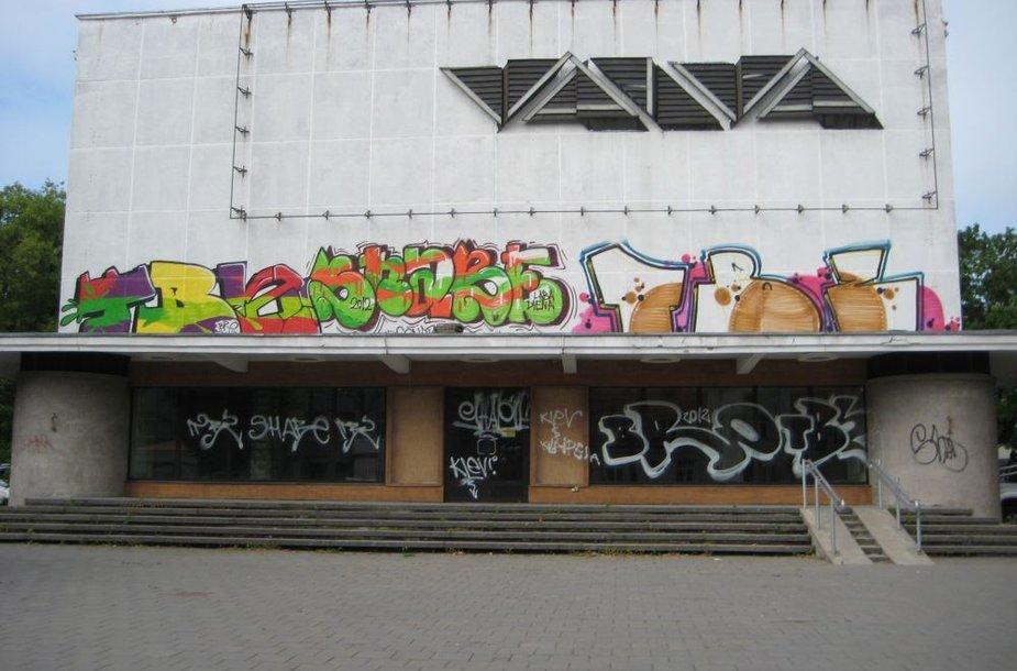 Klaipėdoje aprašinėtas pastatas Herkaus Manto gatvėje.