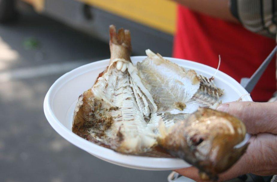 Išrūkyta žuvis.