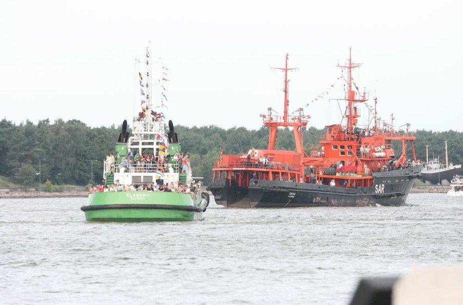 Laivų paradas Kuršių mariose