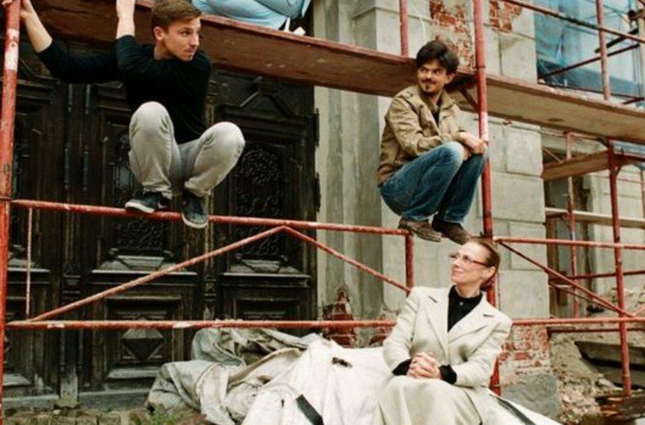 """Spektaklis """"Lūšies valanda"""" bus rodomas nebaigtame remontuoti Klaipėdos dramos teatre."""