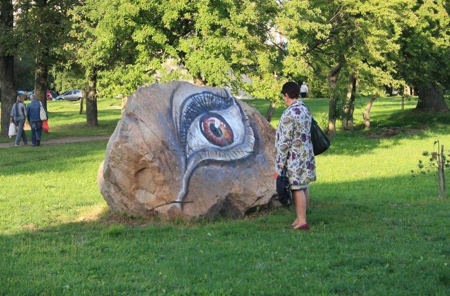 Prieš kelis mėnesius nupiešta akis Klaipėdoje sukėlė diskusijas: nutrinti piešinį ar palikti.