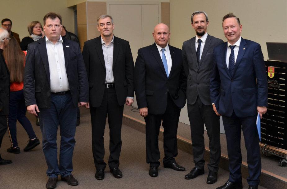 Kandidatai į Klaipėdos universiteto rektoriaus postą.
