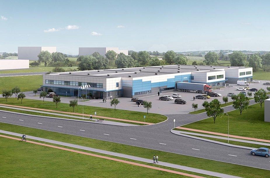 """Klaipėdiečiai nutarė įgyvendinti analogų Baltijos šalyse neturintį projektą: universalų 7500 kv. m ploto gamybinį pastatą """"Flexstart""""."""