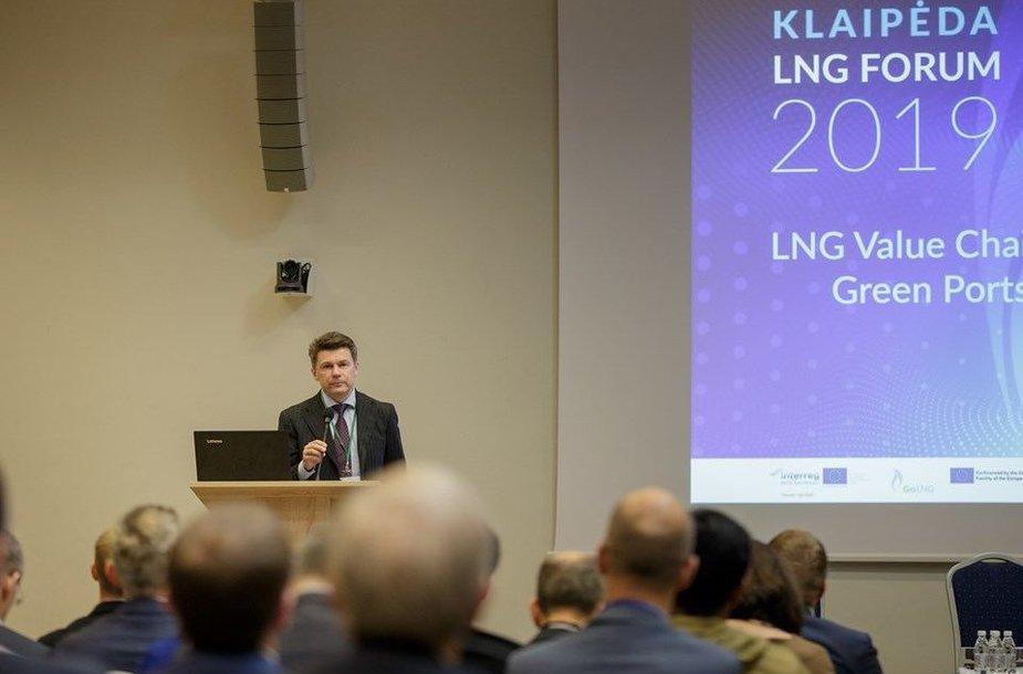 """""""Klaipėda LNG Forum 2019"""" – didžiausiais iki šiol uostamiestyje organizuotas renginys, skirtas suskystintųjų gamtinių dujų industrijai."""