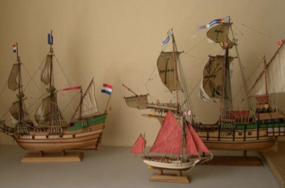 Laivų modeliai.