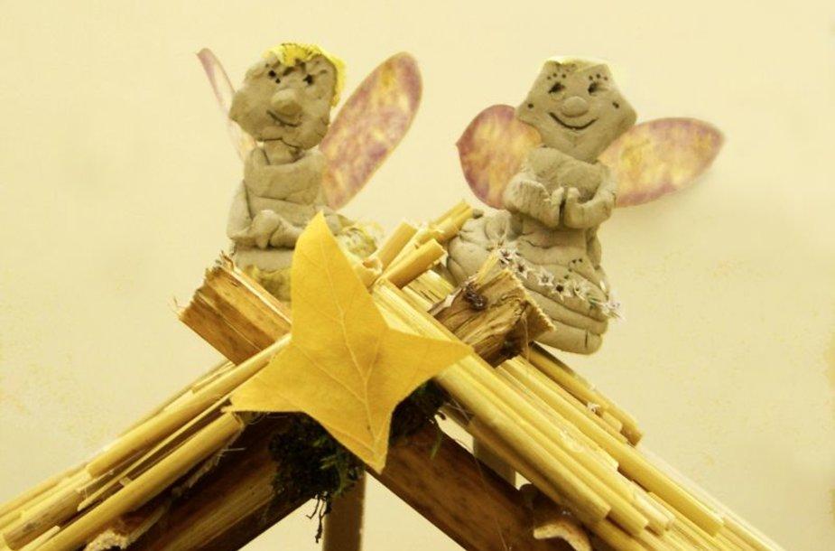 """) Agluonėnų lopšelio-darželio """"Nykštukas"""" vaikų sukurtos prakartėlės fragmentas."""