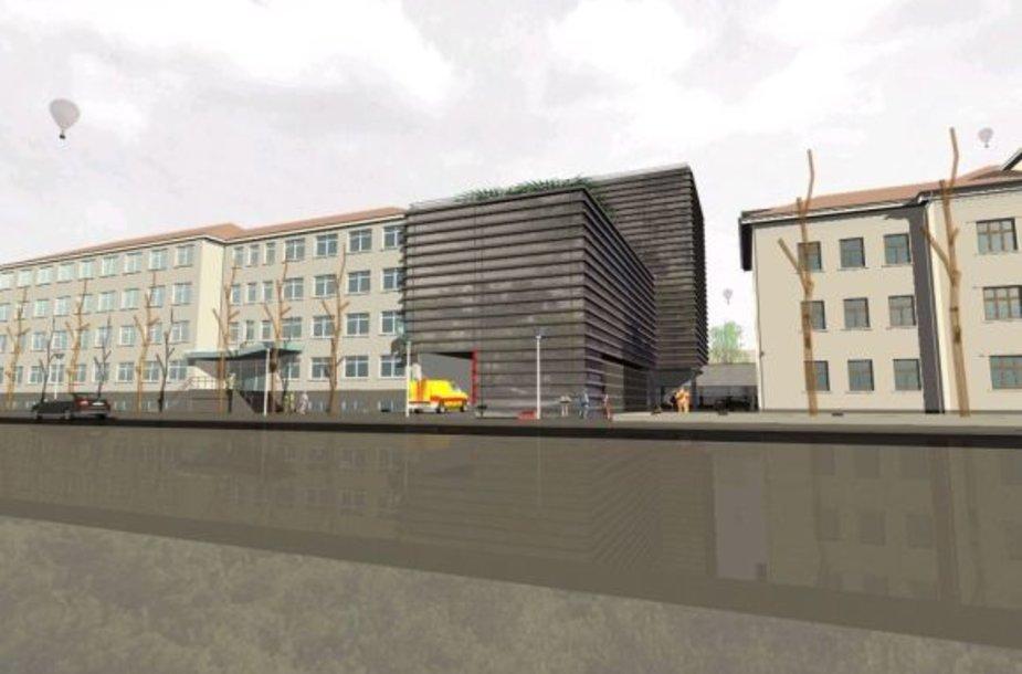 Naujas Klaipėdos apskrities ligoninės korpusas turėtų prisišlieti prie dabartinio Vilties g. fasado.