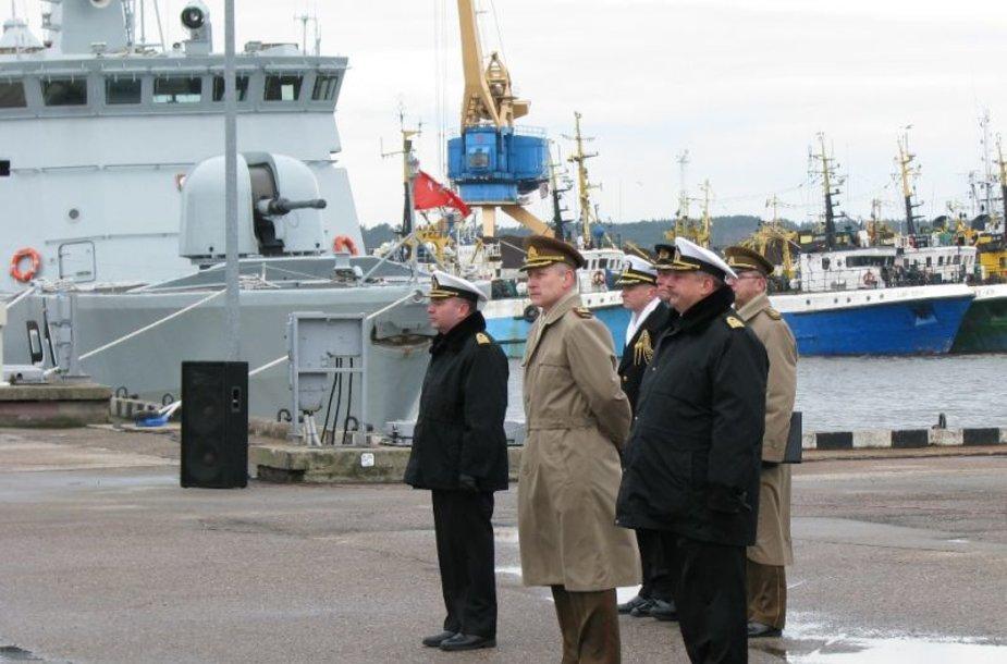 Ceremonijoje dalyvavo ir kariuomenės vadas Arvydas Pocius.