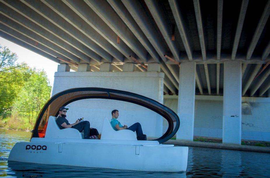 """Tomo Vėliaus sukurtas """"Popa Boat"""" jau ištestuotas Danėje."""