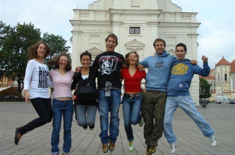 Erasmus studentai Kaune