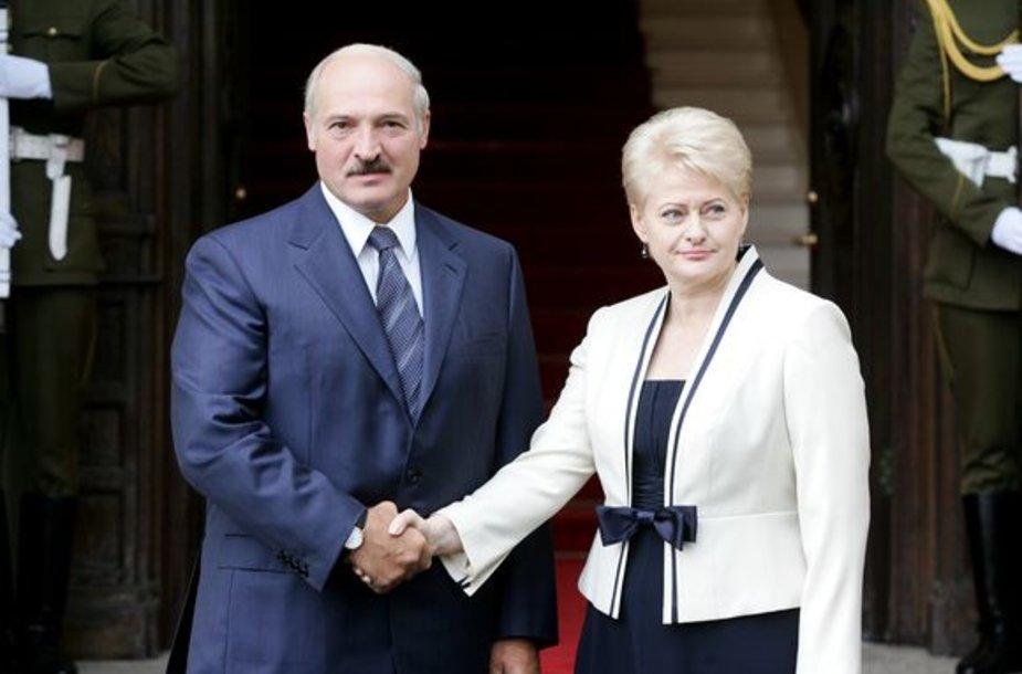 A.Lukašenka su prezidente D.Grybauskaite