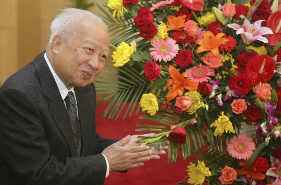 Kombodžos karalius Norodomas Sihanoukas