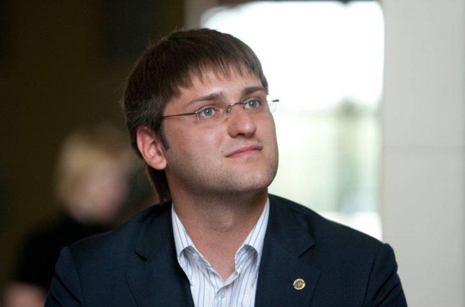 Lietuvos jaunimo organizacijų tarybos (LiJOT) prezidentas Šarūnas Frolenko
