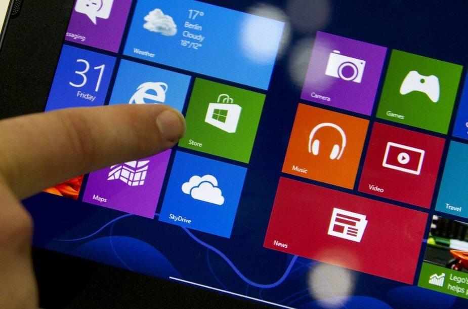 """Parodoje ypač daug dėmesio sulaukė įrenginiai su """"Windows 8"""" operacine sistema"""
