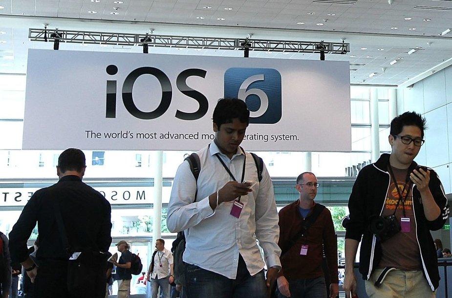"""""""Apple"""" išleidžia mobiliąją operacinę sistemą """"iOS 6"""""""