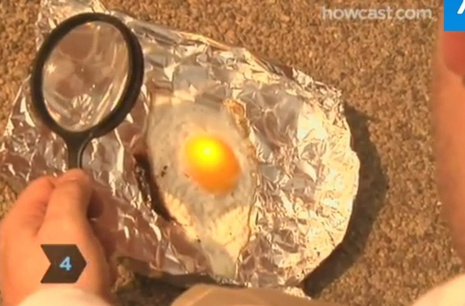 Ar įmanoma iškepti kiaušinį ant asfalto?