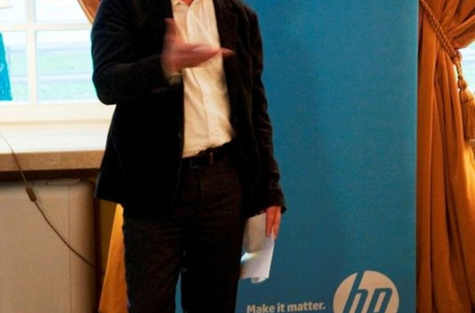"""Kompanijos """"Hewlett-Packard"""" Technologijų vadovas Wilfriedas Grommenas."""