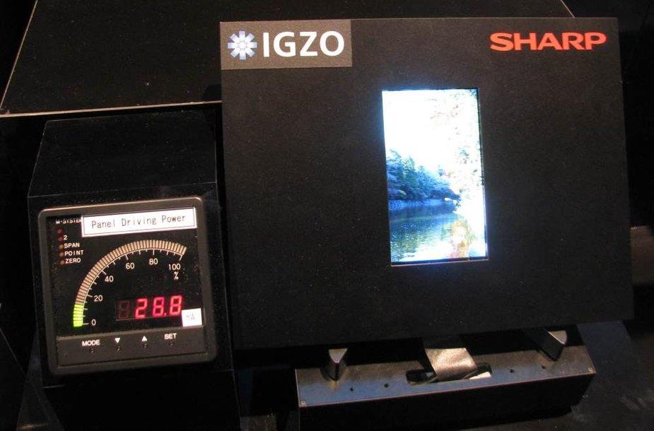 """""""Sharp"""" ekranas su energiją taupančia IGZO technologija"""