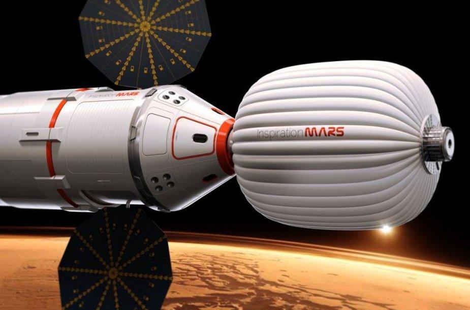 """Nepelno siekianti organizacija """"Inspiration Mars Foundation"""" 2018 metų misijai į Marsą ieško vidutinio amžiaus poros"""