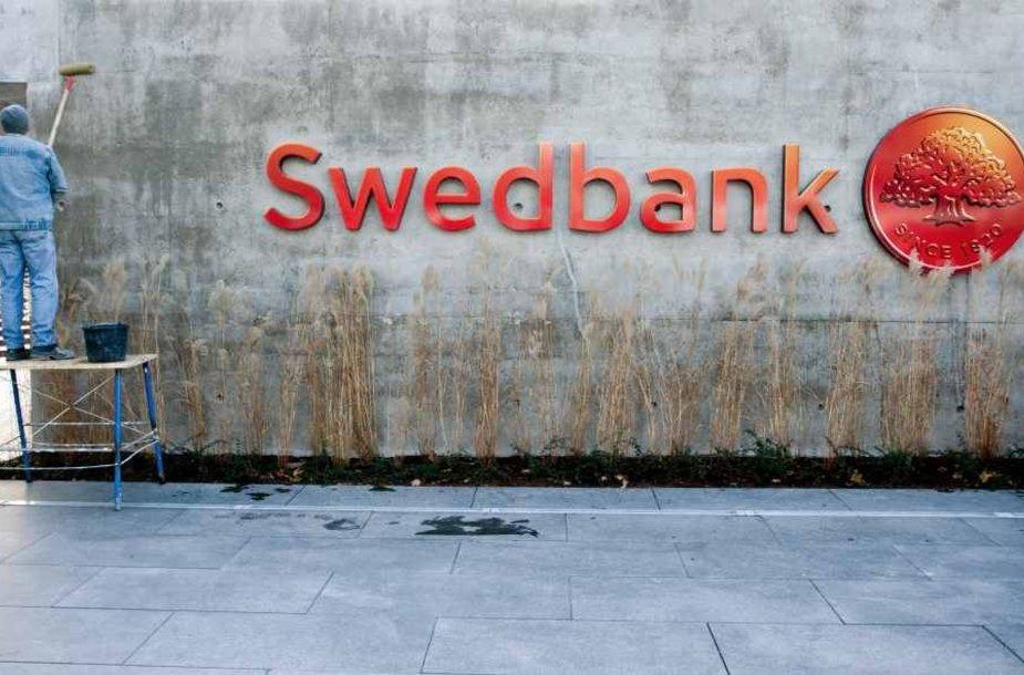 """""""Swedbank"""" banko iškaba"""