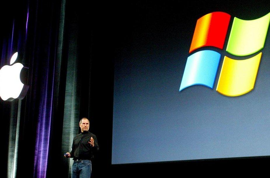 "Steve'as Jobsas kalba apie ""Apple"" ir ""Microsoft"" partnerystę (2002 m. rugsėjo 10 d.)"