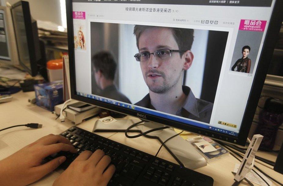 Buvęs JAV Centrinės žvalgybos valdybos analitikas Edwardas Snowdenas