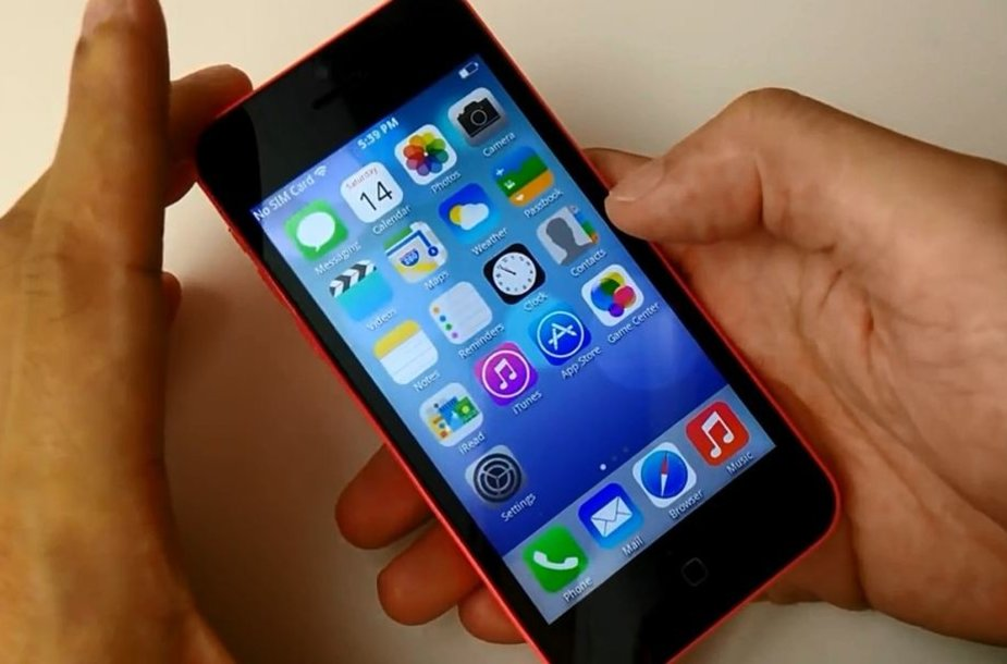 "Kiniškas ""iPhone 5C"" klonas ""Goophone i5C"""
