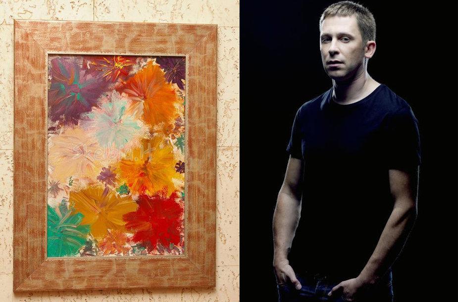 Egidijus Dragūnas ir jo tapytas paveikslas