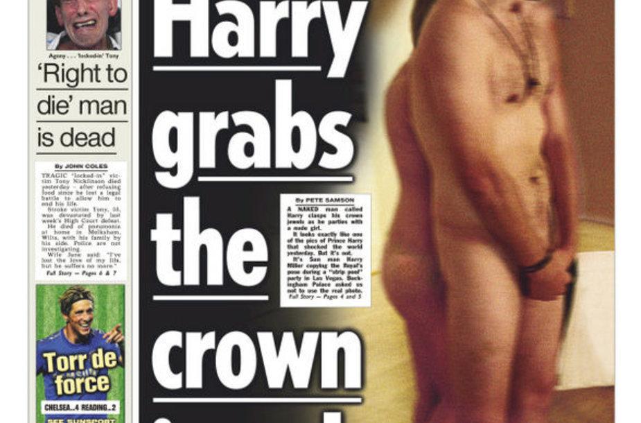 """""""The Sun"""" laikraštyje princą Harry įkūnijo bendravardis redakcijos darbuotojas."""