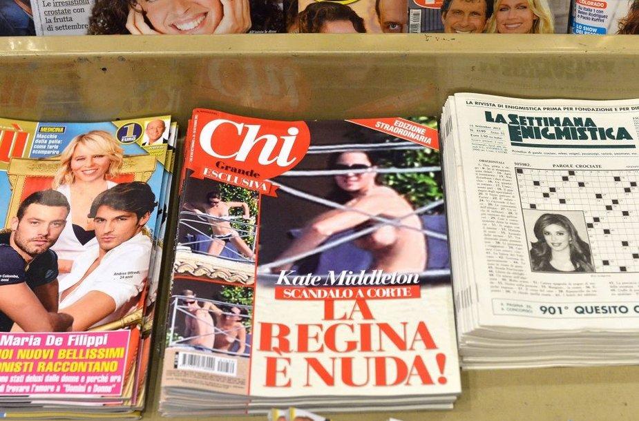 """Italijos paskalų žurnalas """"Chi"""" irgi išspausdino skandalingąsias Catherine nuotraukas"""