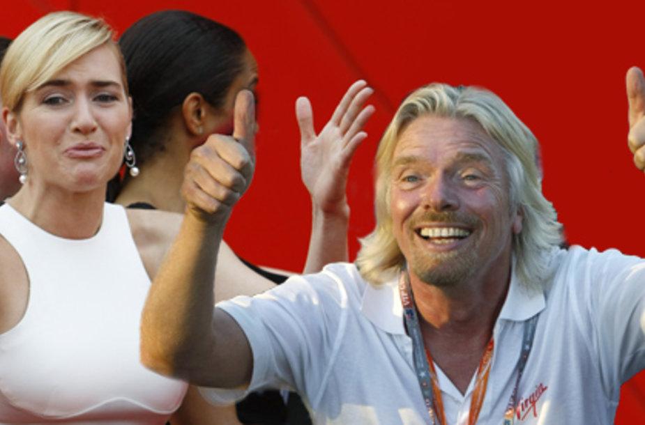 Kate Winslet ir Richardas Bransonas