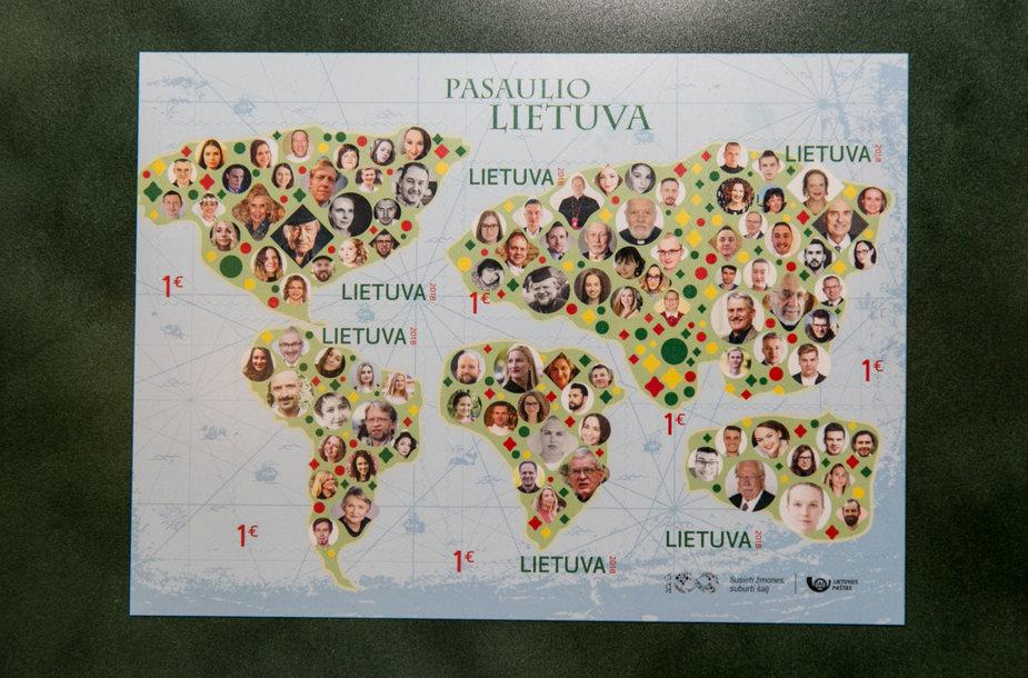 Pašto ženklo pristatymas
