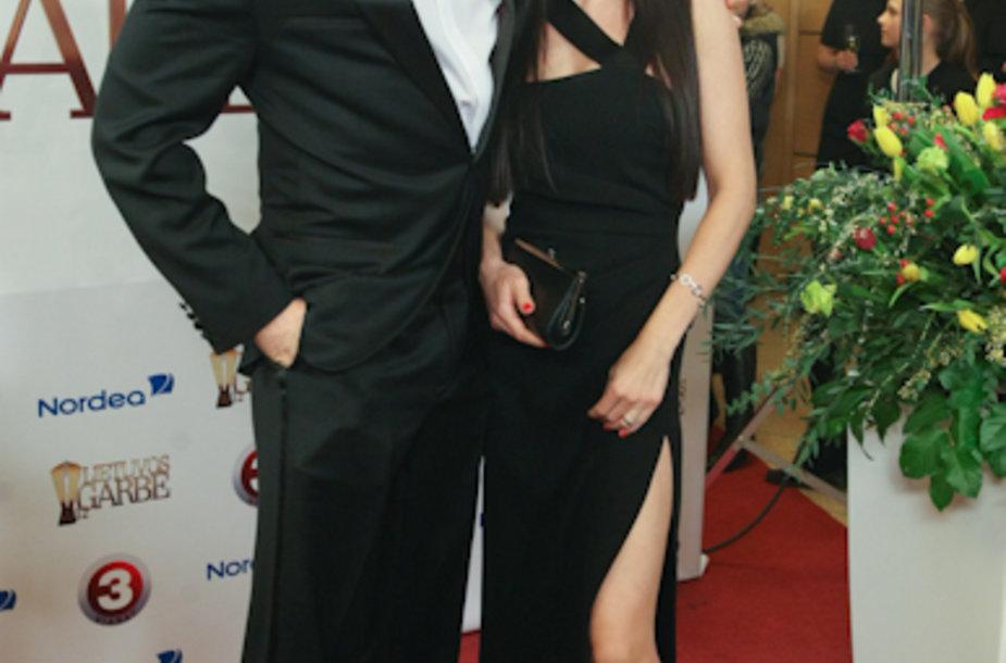 Kristupas Krivickas su žmona Jurgita