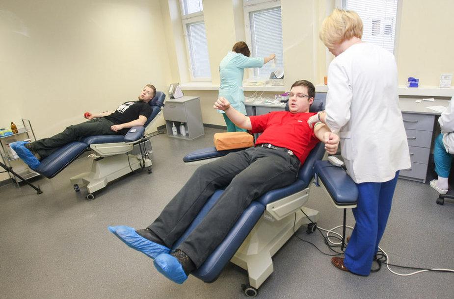 Kraujo donorystės akcijos akimirka