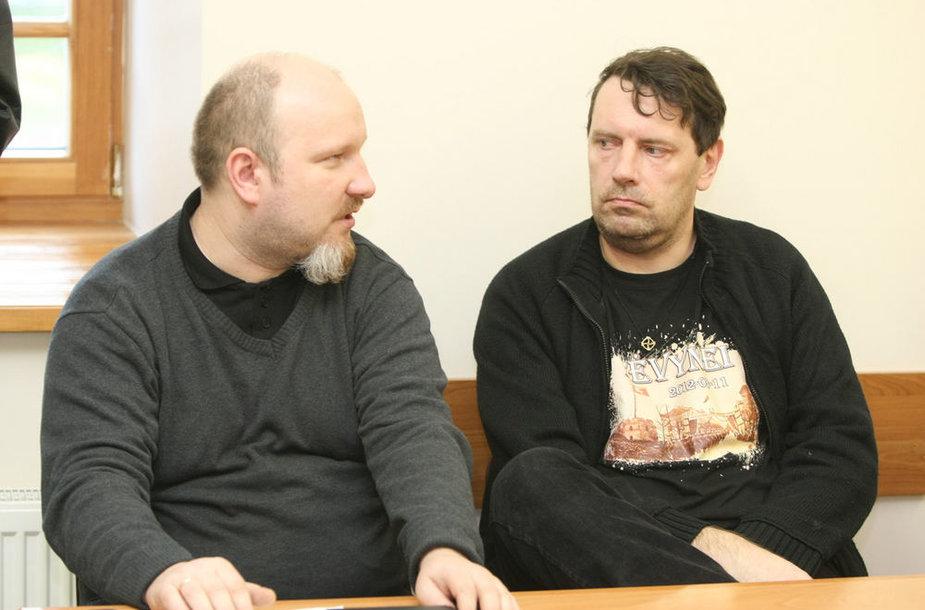 Julius Panka (kairėje), Ričardas Čekutis