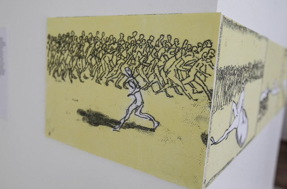 """Modernaus meno centre pristatomos parodos """"Dienoraštis"""" kūrinys"""