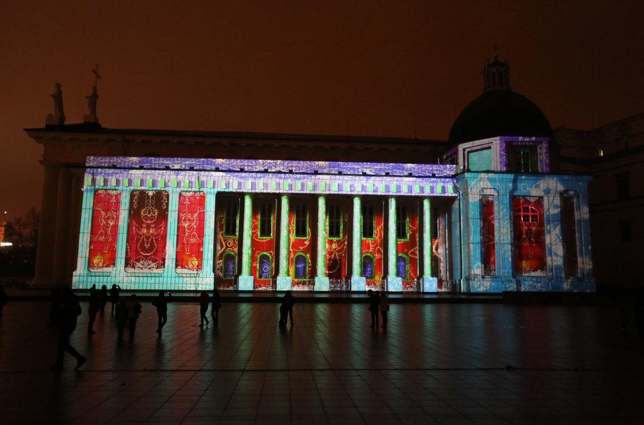 Per Kalėdas ant Vilniaus Katedros sienų bus rodoma pasaka.