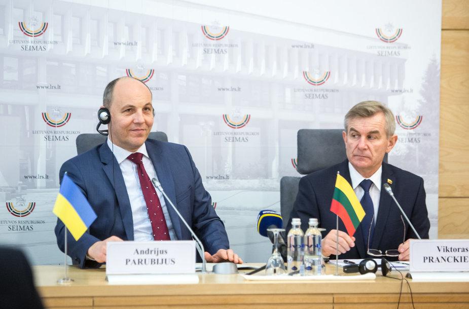 Andrijus Parubijus ir Viktoras Pranckietis