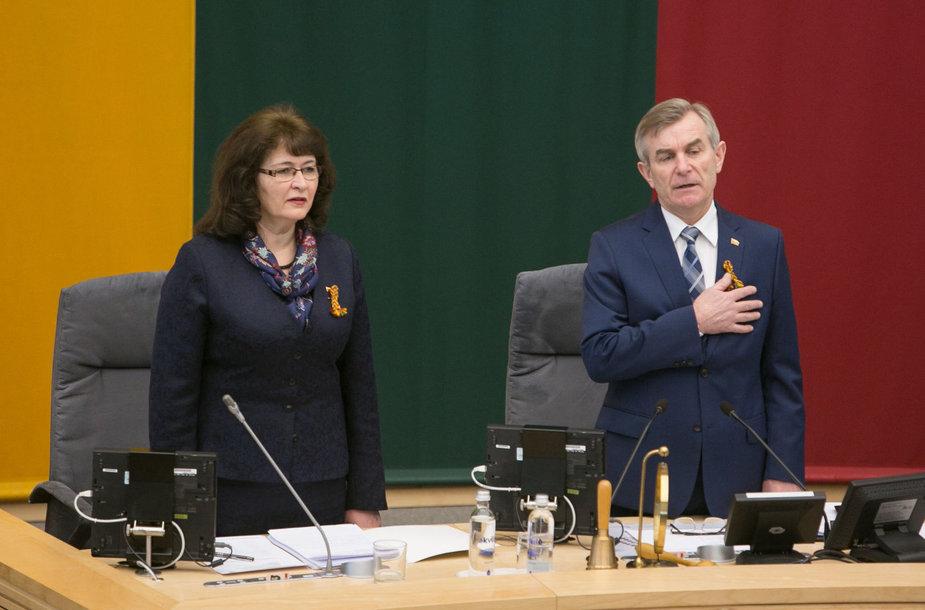 Vida Baškienė ir Viktoras Pranckietis