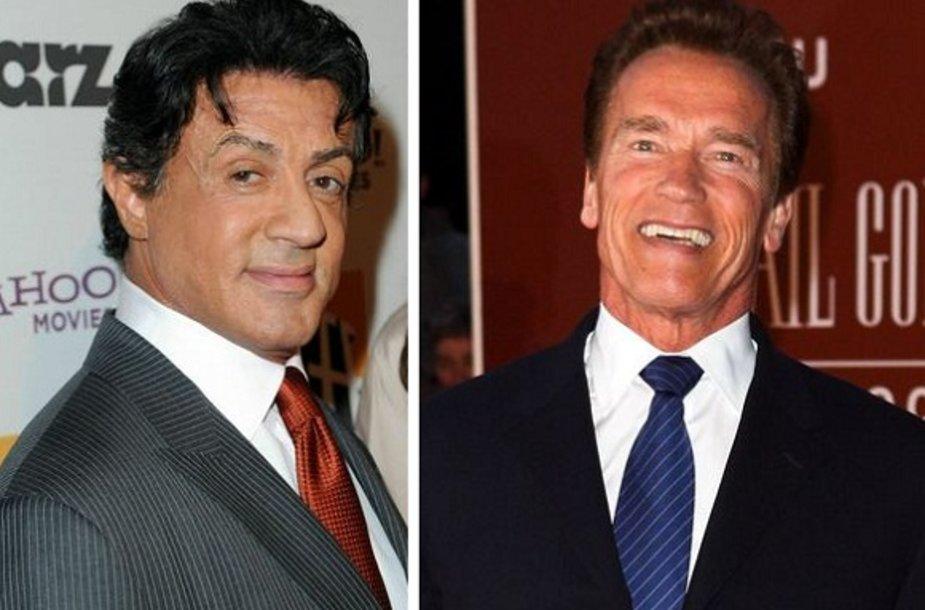 Arnoldas Schwarzeneggeris ir Sylvesteris Stallone