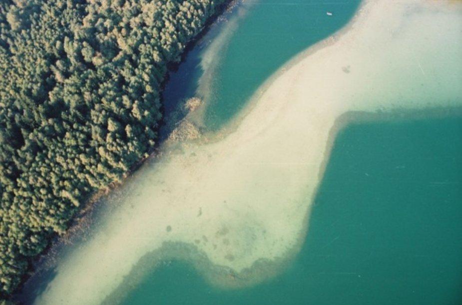Luokesų ežeras iš viršaus