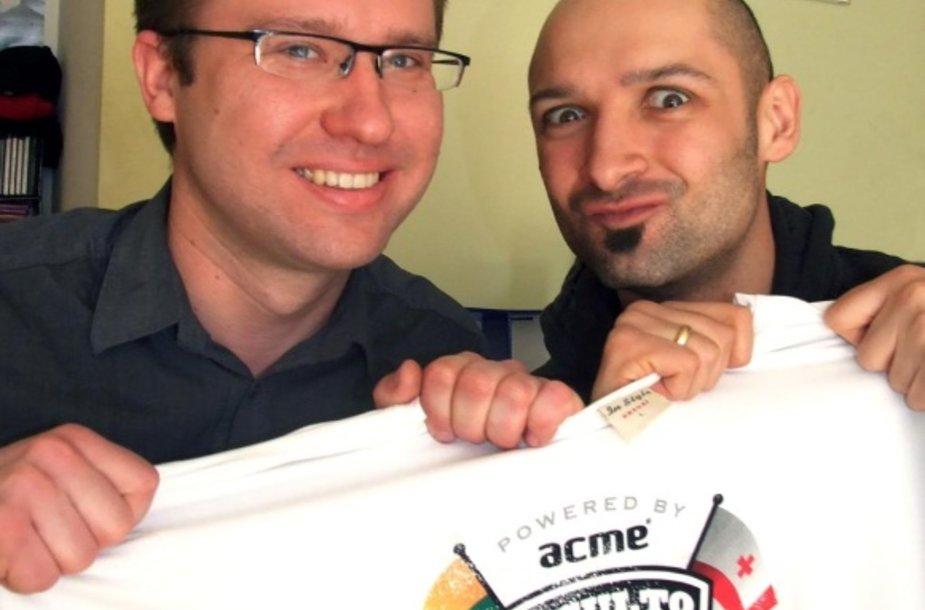 ACME Baltija direktorius P.Paršeliūnas ir J.Didžiulis